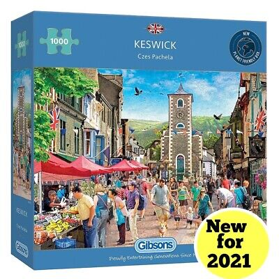 Gibsons 1000 Piece  🧩 Jigsaw KESWICK BRAND NEW For 2021 FREE SHIPPING • 16.99£