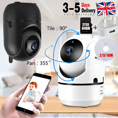 1080P WiFi IP Camera Home Security Baby Monitor Clever Dog CCTV Night Vision CAM • 3.99£