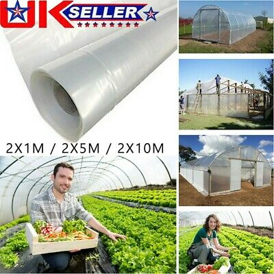 Greenhouse Polytunnel-Cover Clear Film Sheeting-Plastic Film Foil Cover-GARDEN • 13.66£