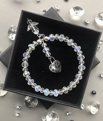 Gift Box & Card Clear Crystal Sun-catcher April Birthstone Mother's Day Birthday • 6.99£