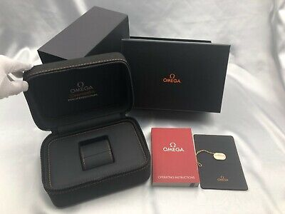 $ CDN4.10 • Buy Genuine OMEGA Empty Watch Box Case Tag Booklet Black Orange 210106002 A107