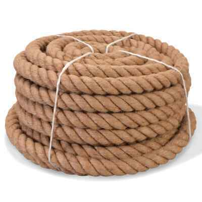 VidaXL Rope 100% Jute 20mm 50m Boat Rope Cable Wire Decking Lifting Swing • 63.99£
