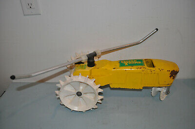 AU50 • Buy Vintage Green Thump Traveling Yellow Tractor Lawn Sprinkler Cast Iron