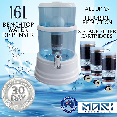 AU115 • Buy Benchtop Dispenser 8 Stage Water Filter Purifier Fluoride Filters 16L CounterTop