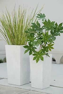XBrand Set Of 2 Different Sizes Modern Nested Tall Square Concrete Planter 29... • 123.29£