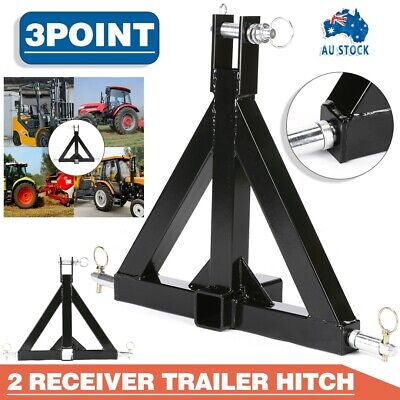 AU118.99 • Buy Heavy Duty Steel 3 Point 2  Trailer Hitch Receiver Tow Drawbar For Cat 1 Tractor