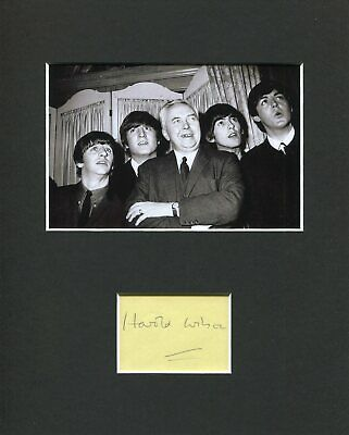 £73.15 • Buy Harold Wilson British Prime Minister Signed Autograph Photo Display The Beatles