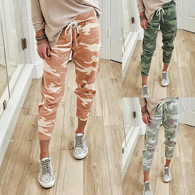 £10.99 • Buy UK Womens Camo Print Joggers Trousers Ladies Tracksuit Bottoms Jogging Gym Pants