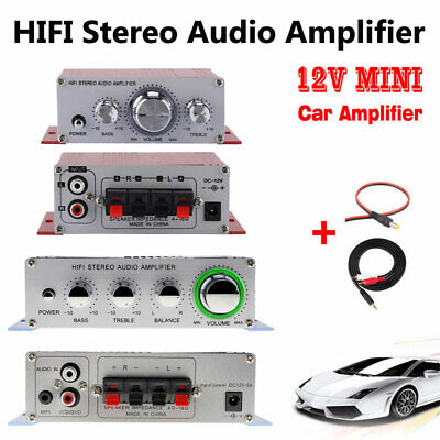 Mini Hi-Fi Stereo Audio Small Amplifier AMP For Car Motorcycle Radio MP3 12V 5A • 9.49£