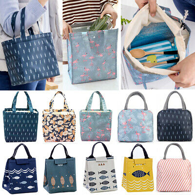 Unisex Insulated Lunch Bag Cool Bag Tote Thermal School Portable Picnic Case Box • 7.39£