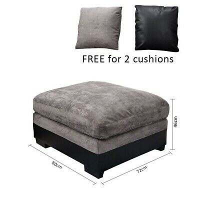 Modern Sofa Armchair Footstool Lounger Pouffe Stool Bench With 2 Pillows Bedroom • 79.99£