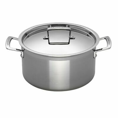 Le Creuset 3-Ply Stainless Steel Deep Casserole 24cm • 215.24£