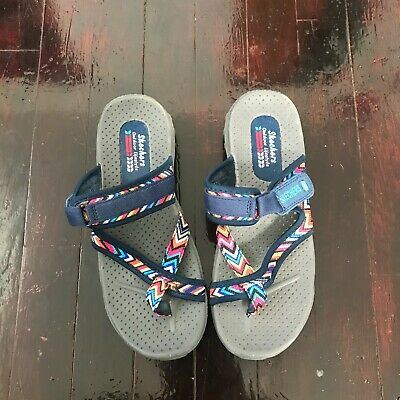 SKECHERS OUTDOOR LIFESTYLE Gray Blue Sandals Slippers Sketchers Size 7 US  • 13.02£