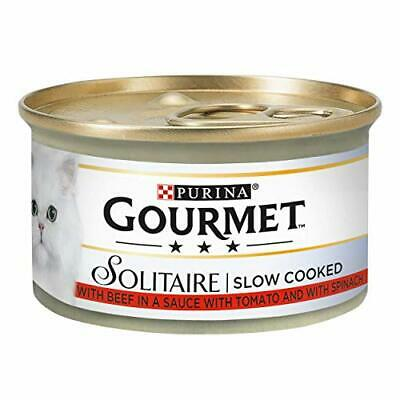 Gourmet Solitaire Beef With Tomato Sauce And Spinach 85g - Pack Of 12 • 10.22£