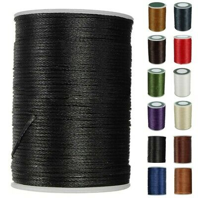 £4.03 • Buy 0.8mm Bonded SEWING Thread For Upholstery Leather Outdoor Canvas Beading Craft