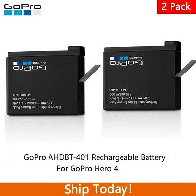 $ CDN25.49 • Buy GoPro AHDBT-401 Rechargeable Battery For GoPro Hero 4 Black & Silver - 2 Pack