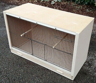 £35 • Buy Single Finch Breeding Cage  25  X 15 X 12 With 2 Door Front BLACK