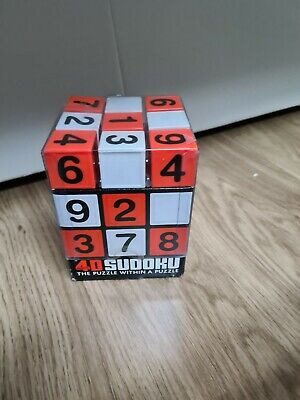 Sudoku Cube 4d Puzzle Number Suduko Braintease Toy Game • 11.99£