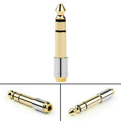 1PCS 6.35mm 1/4  Male Plug To 3.5mm 1/8  Female TRS Stereo Jack Audio Adapter • 8.22£