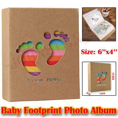 Photo Album 6x4 Baby FootPrint Books Family Memory Albums Holds 100 Pockets C06- • 6.29£
