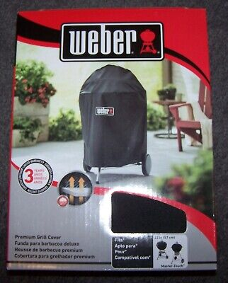 $ CDN12.67 • Buy Weber Premium Grill Cover - Fits 22  Kettle & Master-Touch