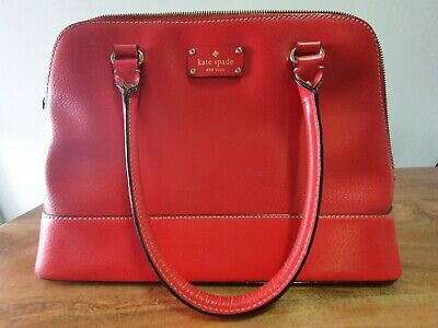AU45 • Buy Kate Spade Sylvia Large Red Leather Dome Satchel - Pre-Loved Great Condition!