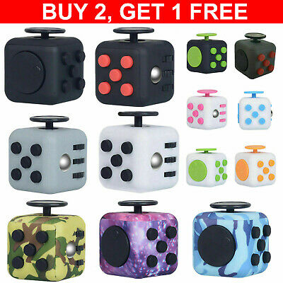 AU10.88 • Buy Fidget Hand Finger Cube 3D Focus Stress Reliever Toy Gift Magic For Kids Adults