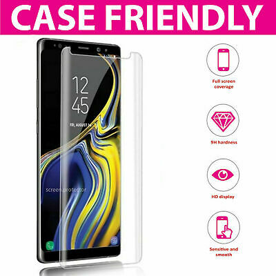 $ CDN6.80 • Buy Full Curved 5D Tempered Glass Screen Protector For Samsung Galaxy NOTE 9 - BLACK