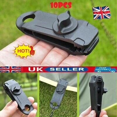 10pcs  Heavy Duty Tarp Clips Clamps Great For Camping Canopies Tents Canvas  • 7.13£