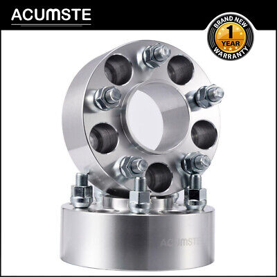 $47.99 • Buy 2PCS 2  50mm 5x4.5 5x114.3 Hubcentric Wheel Spacers Adapter 71.5mm 1/2 X20 Studs
