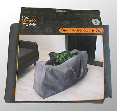 Christmas Tree Zip Up Storage Bag Fits A 6ft Trees Decorations Grey • 6.99£