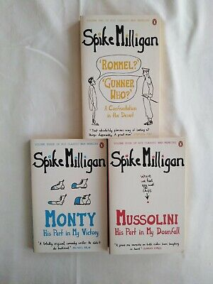 3 Spike Milligan Books Mussolini His Part In My Downfall Rommel Monty New PB  • 18£