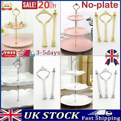 2/3-Layer Dessert Cup Cake Stand Afternoon Tea Party Wedding Plate Tableware -UK • 5.92£