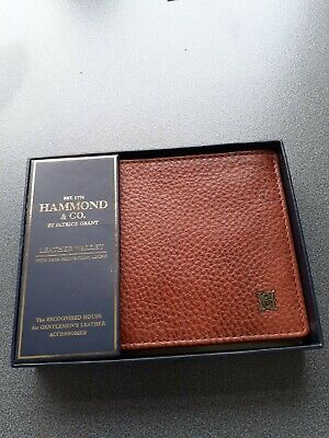 $ CDN15.78 • Buy HAMMOND  & CO. Quality Brown Leather Billfold Wallet With Data Protection Lining