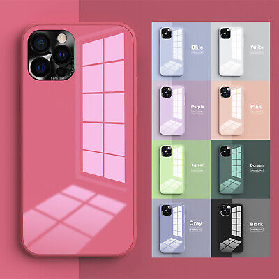 AU11.99 • Buy For IPhone 12 11 Pro Max XS XR 8 7 Plus Hard Hybrid Tempered Glass Case Cover
