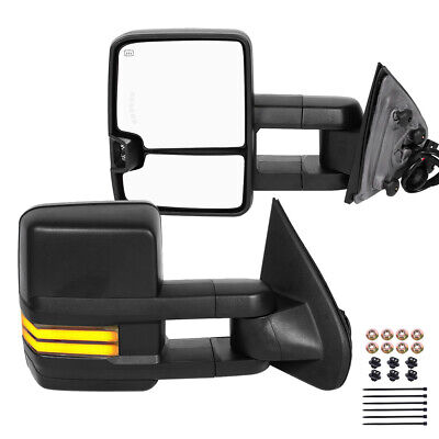 $221.93 • Buy For 99-02 Chevy Silverado 1500/2500 Extendable Power Heated LED Tow Mirrors