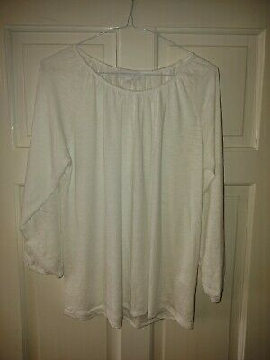 The White Company Ladies Top Size 10 In White • 3.75£