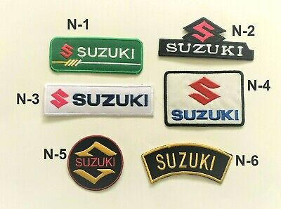 Suzuki Car Motorcycle Sports Racing Patch Iron On Sew On Embroidered Badge New • 1.99£