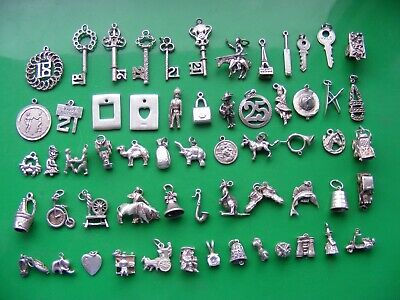 £6.99 • Buy K) Vintage Sterling Silver Charms Charm Heart Booties Bell 25 21 18 Fish Pixie