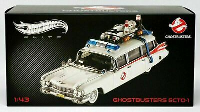 Hot Wheels Ghostbusters Ecto-1 Elite Series #W1194 New NRFB 2011 White 1:43 • 175.80£