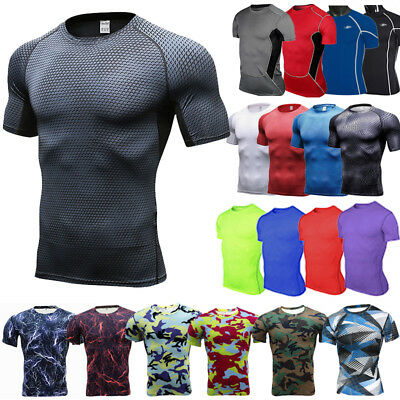 Men's Compression Armour Base Layer Tops Short Sleeve Gym Sports T-Shirt Tee • 11.69£