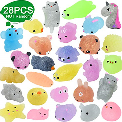 ENTHUR 28pcs Squishy Toys Glitter Mochi Squishy Toys Party Favors For Kids Toys • 17.16£