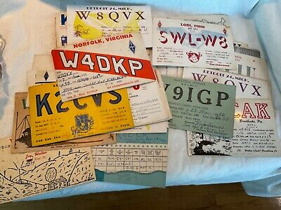 $ CDN22.84 • Buy Lot Of 28 Old Vintage US Ham Radio QSL Cards ALL From 50's