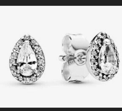 Genuine Pandora Teardrop Halo Drop Earrings New ***Free Gift Wrapping*** RRP £45 • 15£