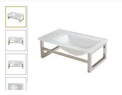 £49.99 • Buy B&Q Cooke & Lewis  Tapti Glass Cloakroom Basin NEW RRP £110