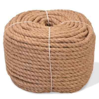 VidaXL Rope 100% Jute 10mm 100m Boat Rope Cable Wire Decking Lifting Swing • 40.99£