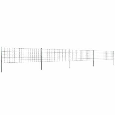VidaXL Step-In Fence 50 M With Post Galvanised Wire Fence 80/6/15 Garden Mesh • 139.99£
