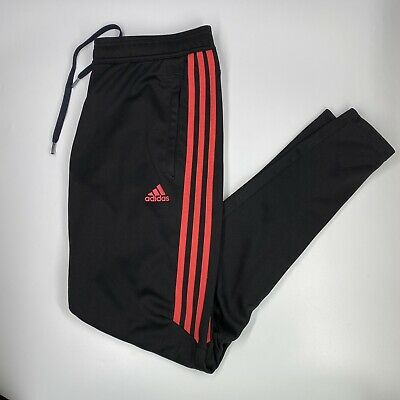 $ CDN25.08 • Buy Adidas Climacool Unisex Black Track Jogger Pants Ankle Zip Pink Stripes Size M