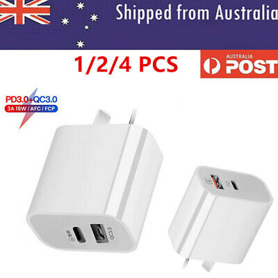 AU11.98 • Buy AU Plug PD 18W USB-C Type C Fast Wall Charger Adapter For IPhone 12 11 Android