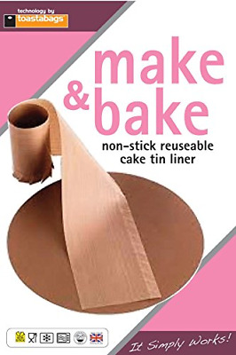 Toastabags Cake Tin Non Stick Reusable Circle And Wall Liner. 7 Inch, 8 Inch, 9 • 4.46£